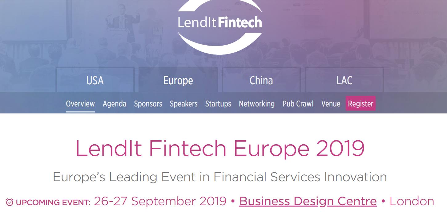 Événement fintech 2019 - LendIt Fintech