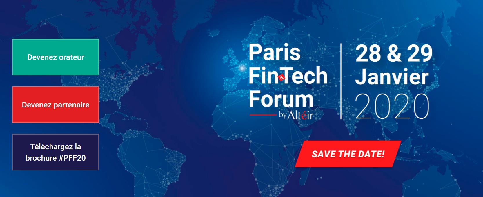 Événement fintech 2019 - Paris Fintech Forum